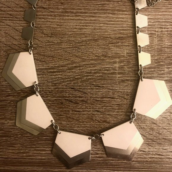 Express Light Pink and Silver Statement Necklace